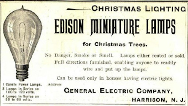 1st String Of Christmas Tree Lights Created By Thomas Edison : Geek Fact for December 22nd Daves Computer Tips
