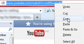 Copy and paste youtube url to download