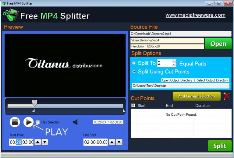 mp4 splitsen