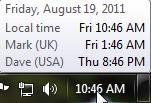 Time zones 1