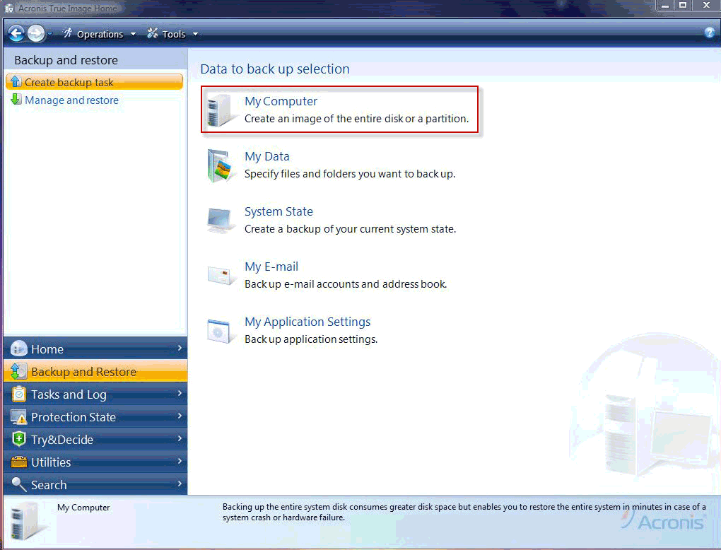 How to use Acronis 61