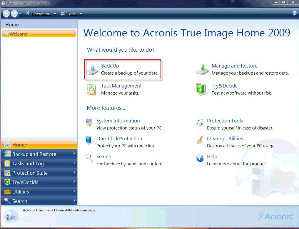 how to use acronis true image to restore