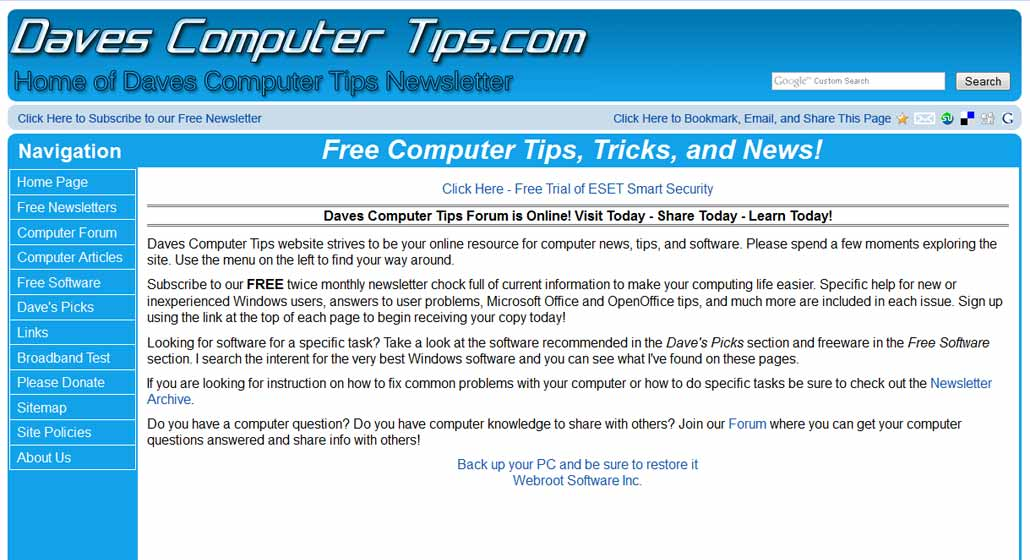 About   Daves Computer Tips