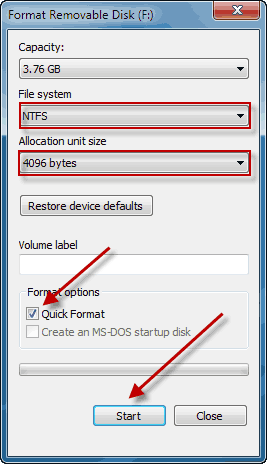 usb drive not recognized windows 7 format