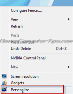 How to add and remove system icons from the Windows 7 desktop