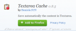 Textarea Cache – never lose incomplete comments/posts again