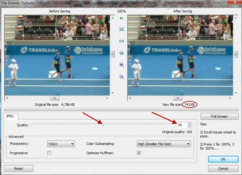 how to resize image and keep quality