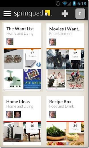 Springpad2 Mobile