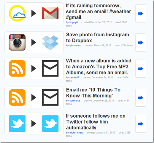 ifttt - Recipes