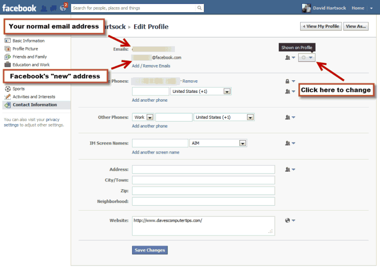 E Mail Facebook