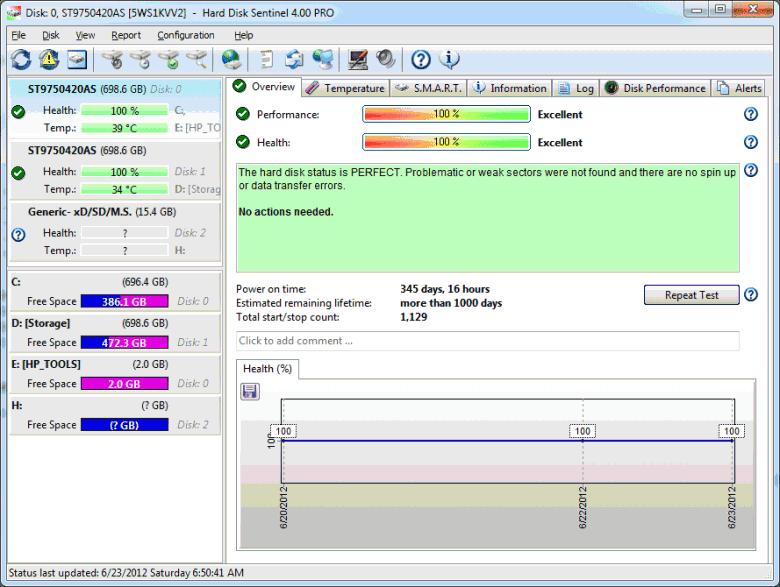 hard drive sentinel smart monitor