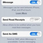 Turning on iMessage on your iOS Device