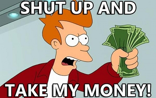 shut up money