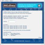 Input special characters easily with 'Holdkey'
