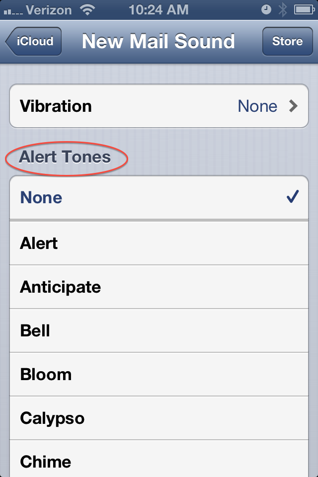 iOS 6 – Setting Up Separate Notifications for Each Email