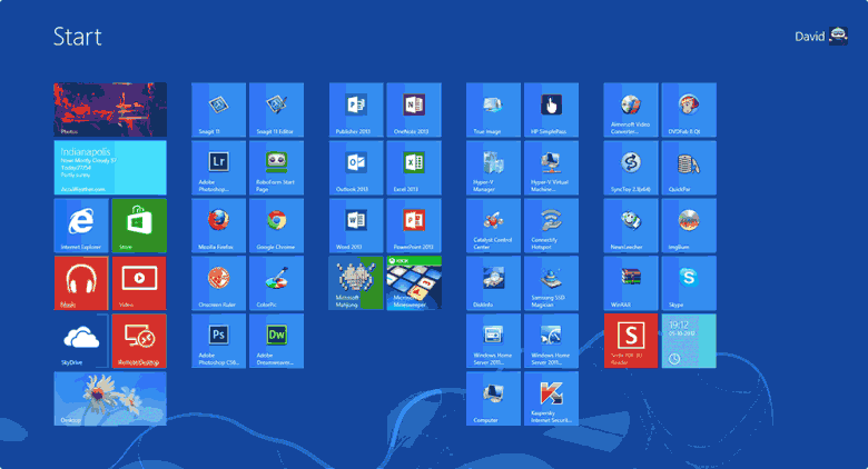 windows 8 start screen customization