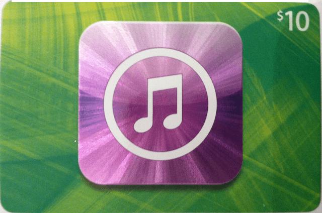 iTunes Gift Card Cut
