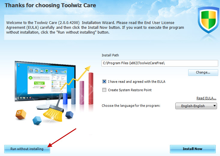 Toolwiz Care setup