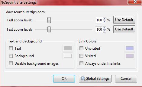 no squint left click