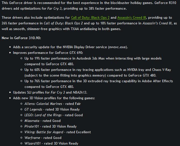 nvidia driver update