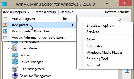 WinX menu 3