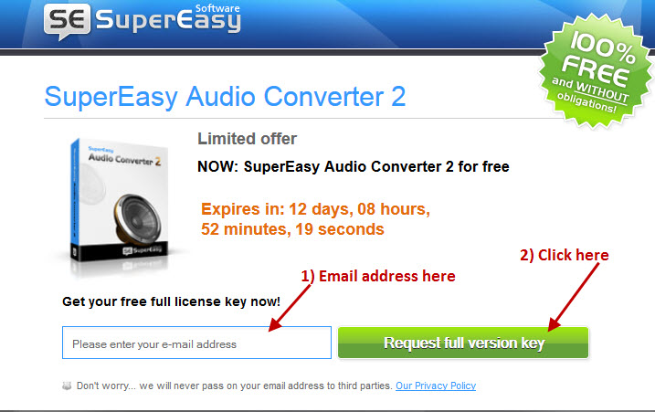 supereasy audio converter free key 2