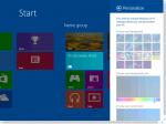 Windows 8.1 personalization inside the Metro interface.