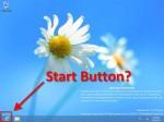 No Start Button in Windows 8.1 yet.