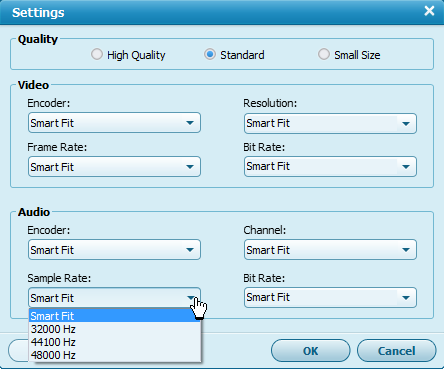 aimersoft video convert ult._settings