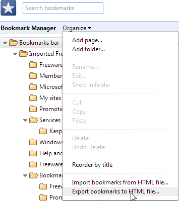 export bookmarks chrome 2