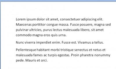 lorem text