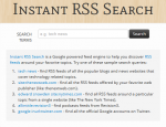 Easily locate RSS feeds & sites of particular interest to you