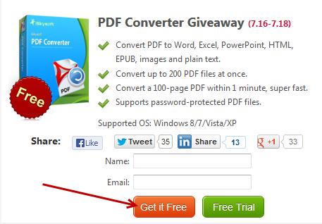 iskysoft pdf converter - giveaway