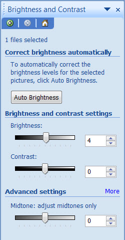 Bright contrast menu