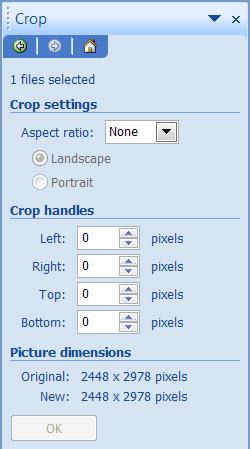 Crop panel