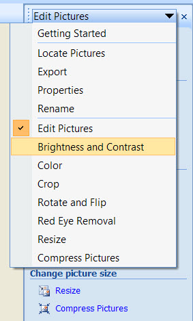 Editing Drop Down Menu