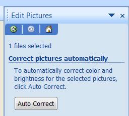 auto correct button