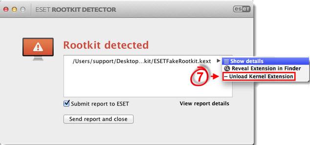 ESET rootkit detector - 2