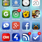 iOS 7 – Having Trouble Seeing Your App Names?