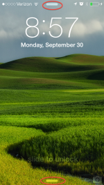 iOS 7 – What are those Bars on my Lock Screen?