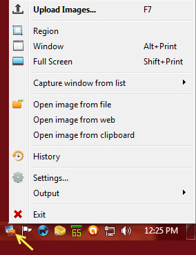 postimage - right click menu