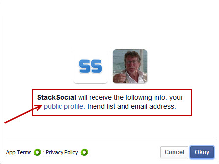 stacksocial FB log-in