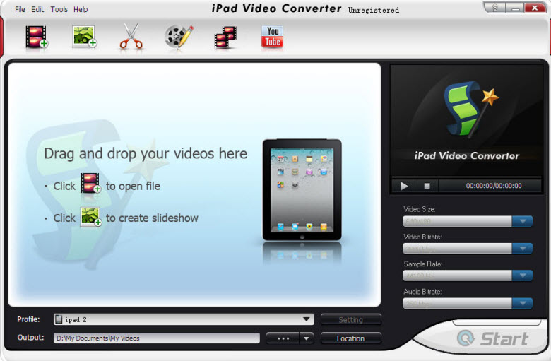blazevideo ipad converter interface