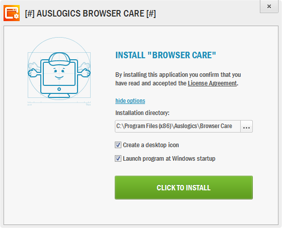 browser care - installation options