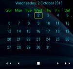 A Simple Unobtrusive Portable Desktop Calendar