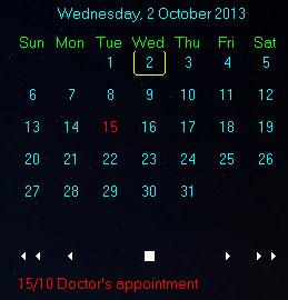 desktop calendar - appointment