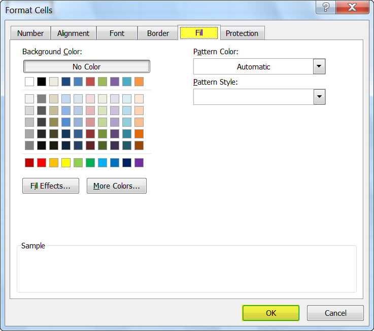 How To Change Cell Colors In Excel 2010 Daves Computer Tips