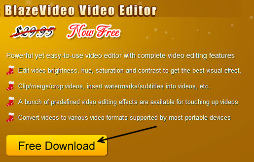 blazevideo video editor gway