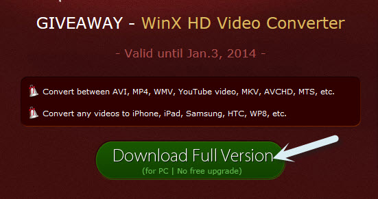 winx hd video converter giveaway