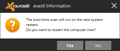 avast - restart message